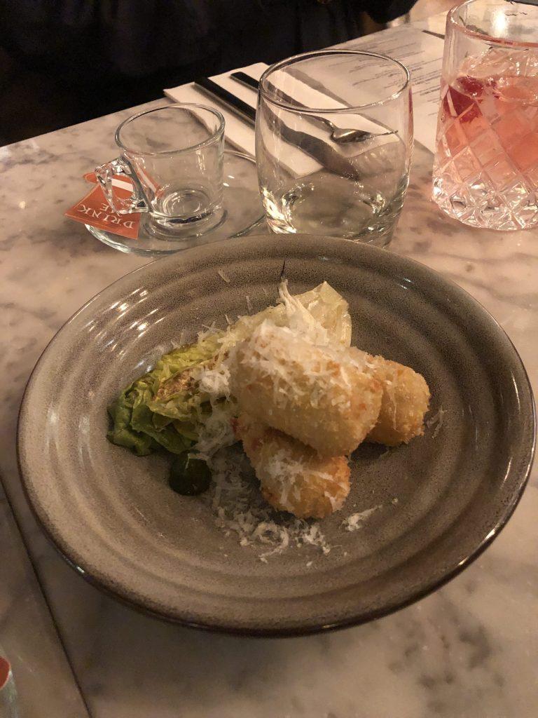 Chicken Caesar Salad Croquette